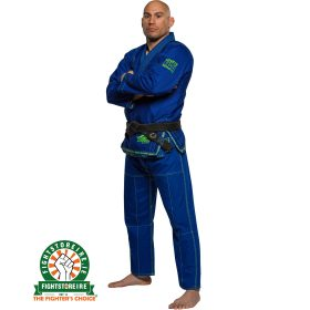 Fuji Suparaito BJJ Gi - Blue with Green - Fi