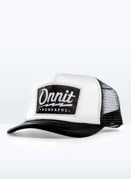 Onnit Powerful Trucker Hat Black White - Fight Store IRELAND 2aecb7d8e66