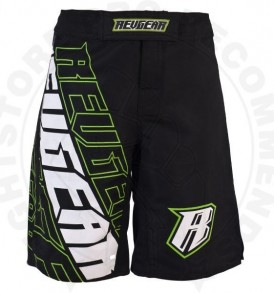 Revgear Kids MMA Shorts - Black / Green