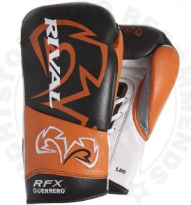 Rival RFX Guerreo UNIQUE Lace-up Gloves - Black & Orange