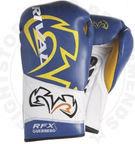 Rival RFX Guerreo UNIQUE Lace-up Gloves - Blue & Yellow