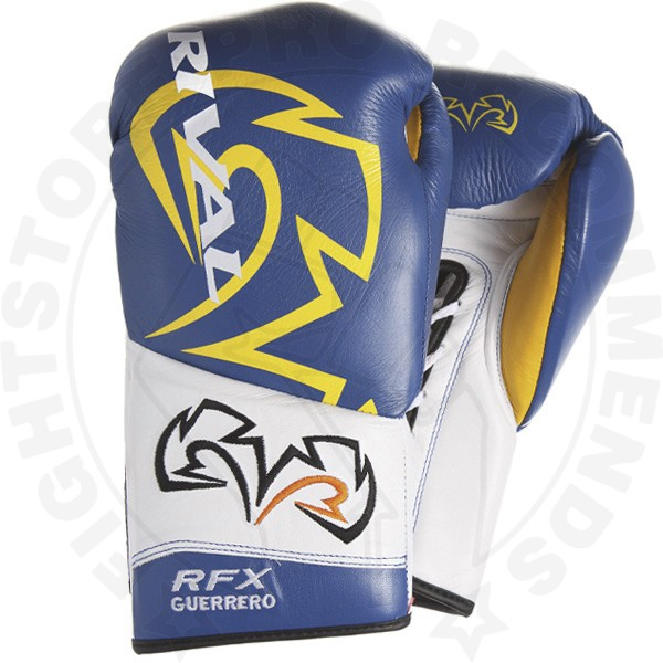 Rival Rfx Guerreo Unique Lace Up Gloves Blue Amp Yellow