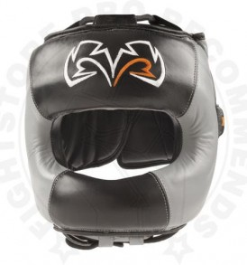 Rival RHGFS1 Face-Saver Boxing Headgear - Black/Grey
