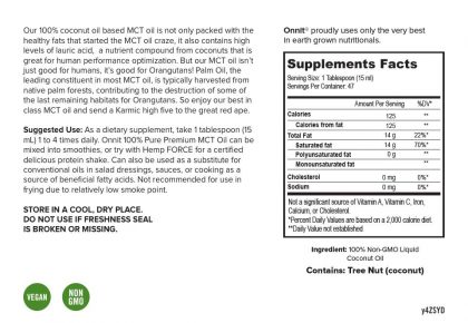 Onnit MCT Oil - Suggested Use