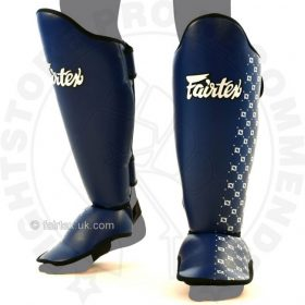 Fairtex Competition Thai Shinguards Blue