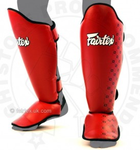 Fairtex Competition Thai Shinguards Red