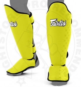 Fairtex Competition Thai Shinguards Yellow