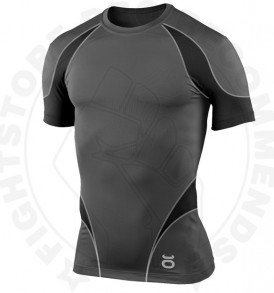 Tenacity Pro Guard Compression Top - Short Sleeve (GreyBlack) - Front