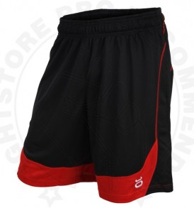Tenacity Twisted Mock Mesh Shorts (Black/Red)