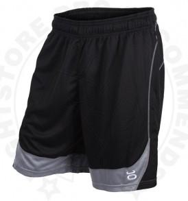 Tenacity Twisted Mock Mesh Shorts (Black/Silver) - Front
