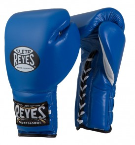 Cleto Reyes Lace Up Sparring Gloves - Blue