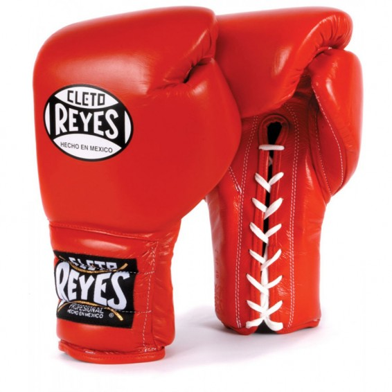 Cleto Reyes Lace Up Sparring Gloves - Red