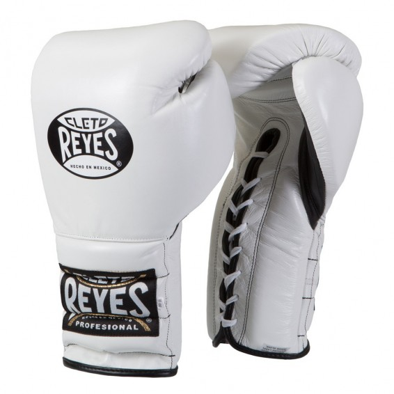 Cleto Reyes Lace Up Sparring Gloves – White