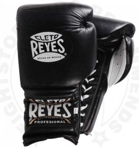 Cleto Reyes Lace Up Sparring Gloves - Black