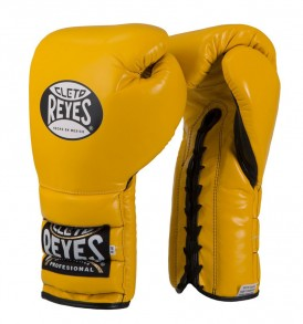 Cleto Reyes Lace Sparring Gloves 16oz Yellow