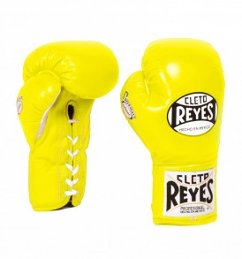 Cleto Reyes Safetec Boxing Gloves - Yellow