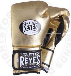 Cleto Reyes Velcro Sparring Gloves - Gold