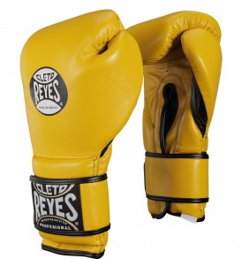 Cleto Reyes Velcro Sparring Gloves 14oz Yellow