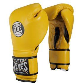 Cleto Reyes Velcro Sparring Gloves 14oz Yellow