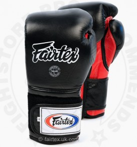 Fairtex BGV9 Mexican Style Boxing Gloves Black-Red