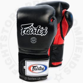 Fairtex BGV9 Mexican Style Boxing Gloves Black-Red