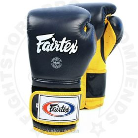 Fairtex BGV9 Mexican Style Boxing Gloves Blue-Yellow