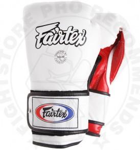 Fairtex BGV9 Mexican Style Boxing Gloves White-Red