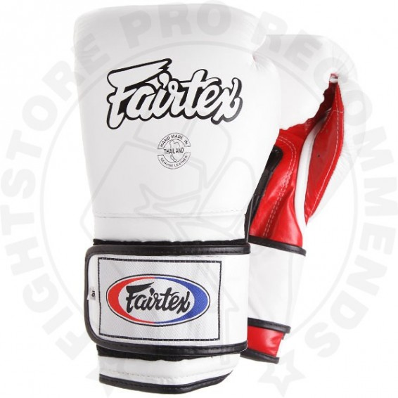 Fairtex BGV9 Mexican Style Boxing Gloves White-Red