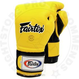 Fairtex BGV9 Mexican Style Boxing Gloves Yellow-Black