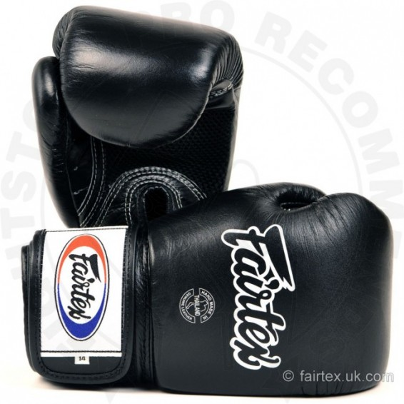 Fairtex Breathable Boxing Gloves Black