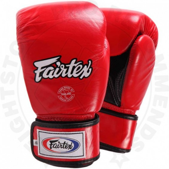 Fairtex Breathable Boxing Gloves Red