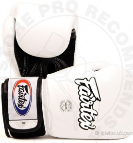 Fairtex Breathable Boxing Gloves White