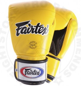 Fairtex Breathable Boxing Gloves Yellow
