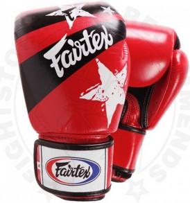 Fairtex Nation Print Boxing Gloves Red