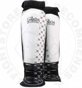 Fairtex Neoprene MMA Shin Pads - White