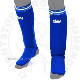 Fairtex SPE Elastic Competition Shin Pads - Blue