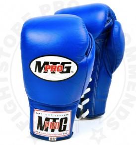 MTG Pro Blue Lace-up Boxing Gloves