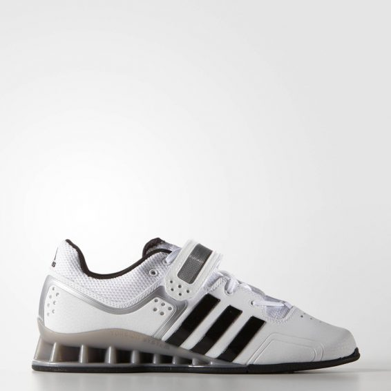 Adidas AdiPower Weightlifting Shoes - White/Black/Grey