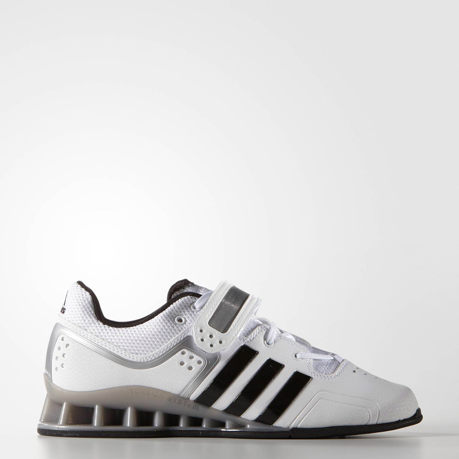 9eb650435da5 Adidas AdiPower Weightlifting Shoes - White Black Grey