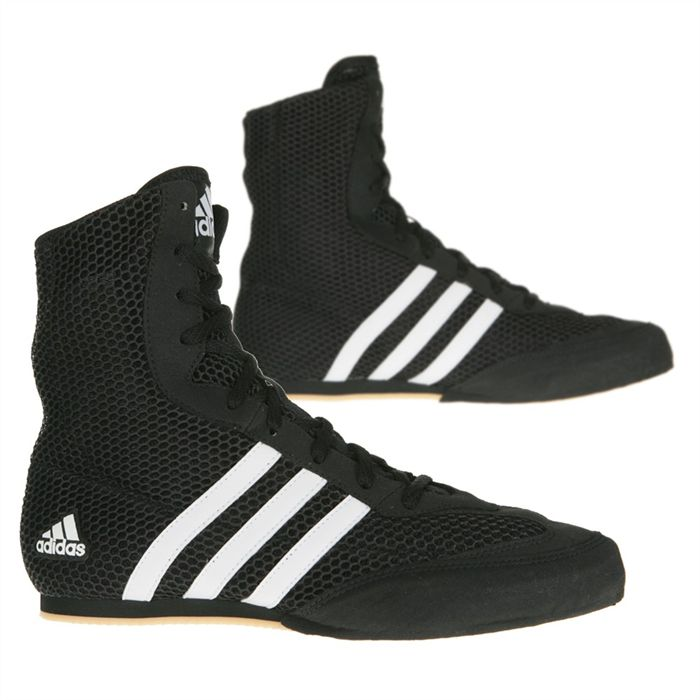 06bcb5db4b68f Adidas Box Hog 2 Boxing Boots - Black White