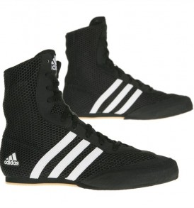 Adidas Box Hog Boys 2 Boxing Boots - BlackWhite