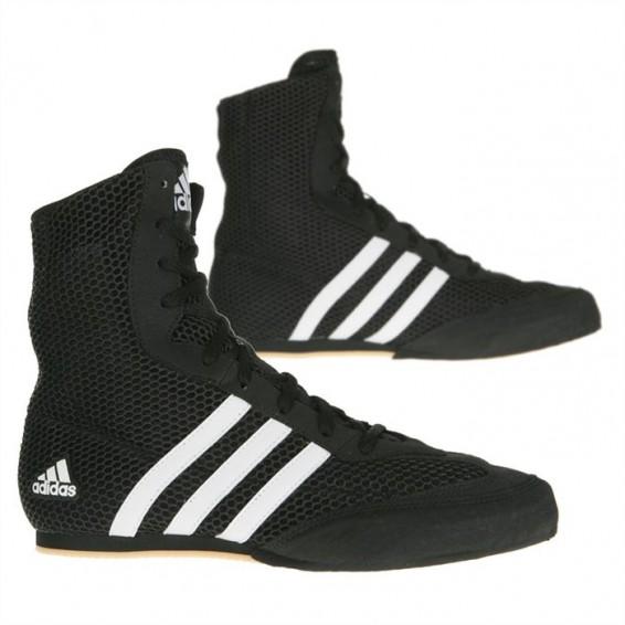 Adidas Box Hog Boys 2 Boxing Boots - BlackWhite