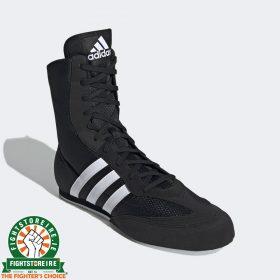 Adidas Box Hog Boys 2 Boxing Boots - Black/White