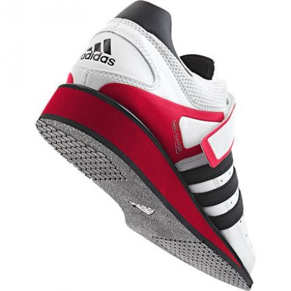 Adidas Power Perfect II Weightlifting Shoes WhiteBlackRed