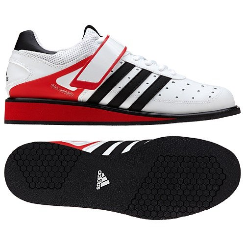 Adidas Power Perfect II Weightlifting Shoes - White