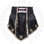 Muay Thai Equipment Boon MT17-Black-Gladiator Muay Thai Shorts