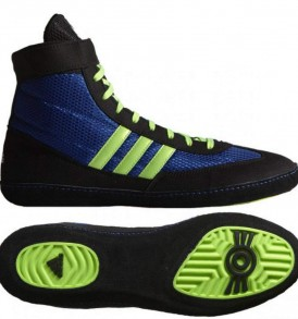 Adidas Combat Speed 4 Wrestling Shoes - Royal Green/Black