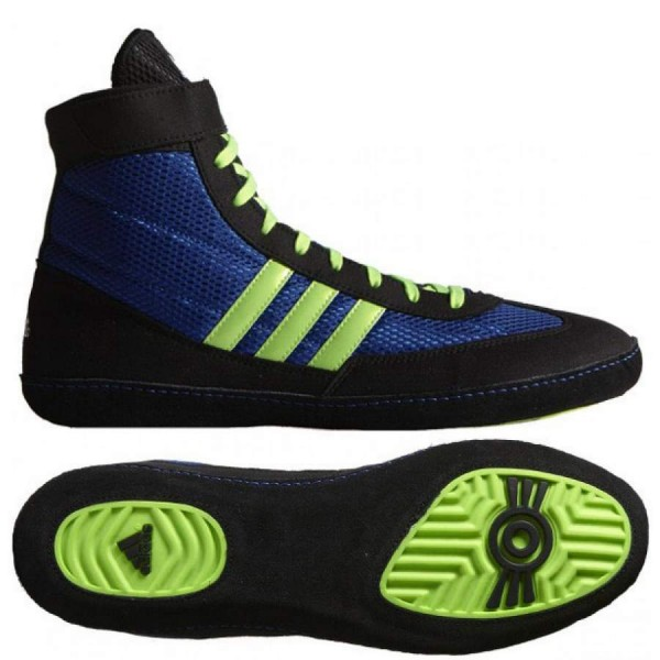 Adidas Combat Speed 4 Wrestling Shoes – Royal Green/Black