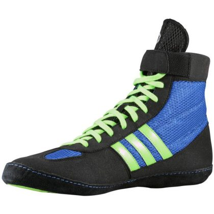 Adidas Combat Speed 4 Wrestling Shoes - Royal Green Black - Fight ... e6e55258c