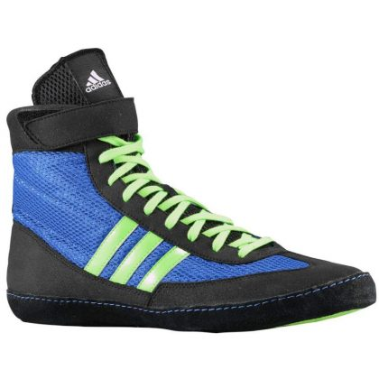huge discount ee597 7a034 Adidas Combat Speed 4 Wrestling Shoes – Royal Green Black